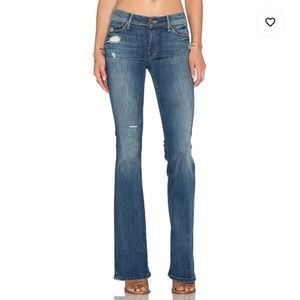 NEW Mother The Cruiser Rough It Up Distressed Flare Jeans
